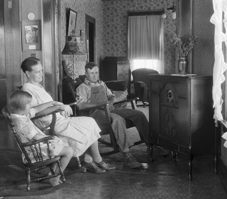 Family Listening to Radio